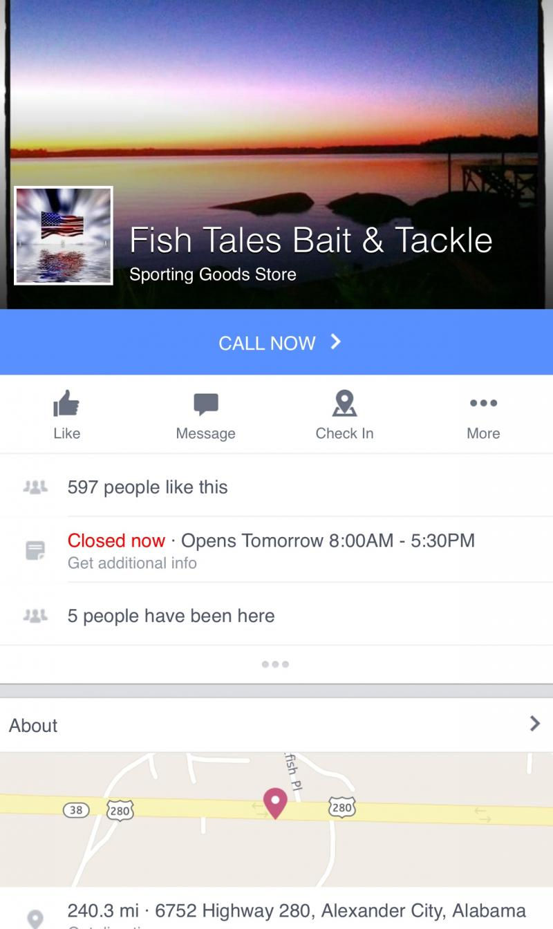Fish Tales Bait & Tackle - Lake Martin, Alabama