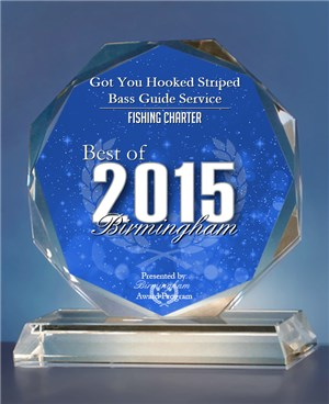 Best Of Birmingham Award 2015 - Got You Hooked Striped Bass Guide Service