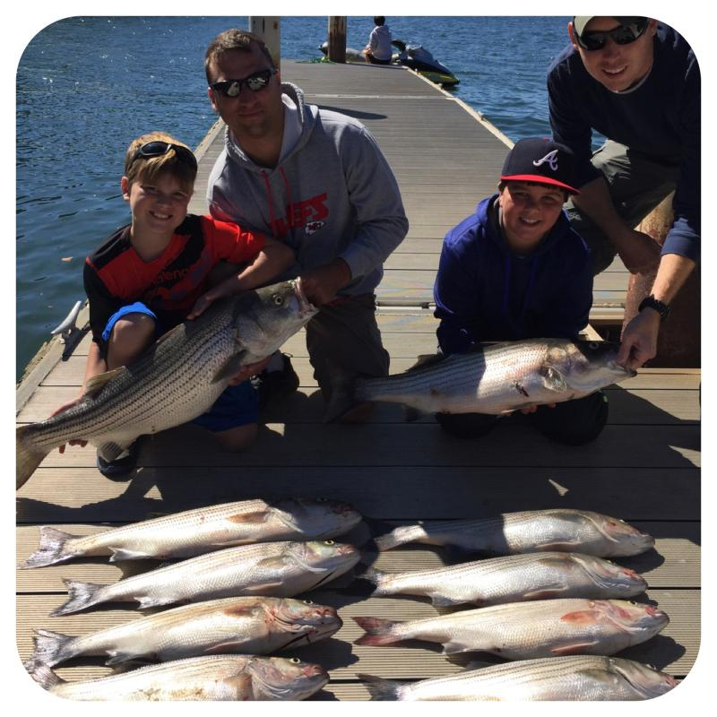 Clients of Got You Hooked Striped Bass Guide Service, Lake Martin.